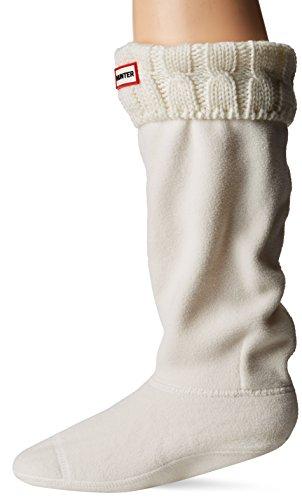 Calcetines Hunter, altos, originales, térmicos, para botas, unisex, adultos, 15 cm, color Blanco, talla L
