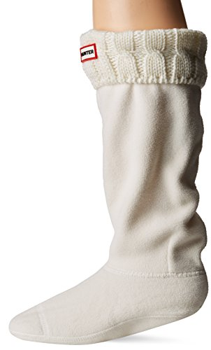 Calcetines Hunter, altos, originales, térmicos, para botas, unisex, adultos, 15 cm, color Blanco, talla L