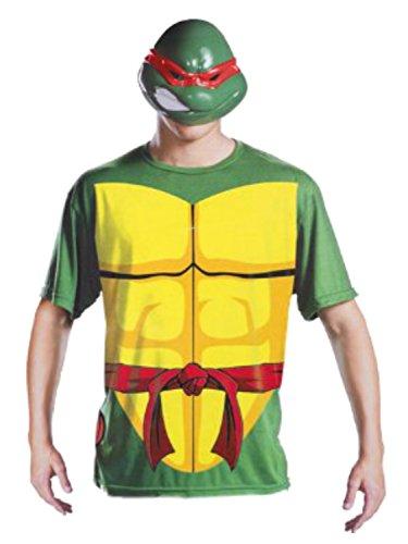 Teenage Mutant Ninja Turtles Mens Raphael Halloween 2 Go Costume with Mask L/XL Green