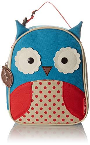 Skip Hop Zoo Lunchie Mini Vespertasche für den Kindergarten, isoliert, mit Namensschild, mehrfarbig, Eule Otis