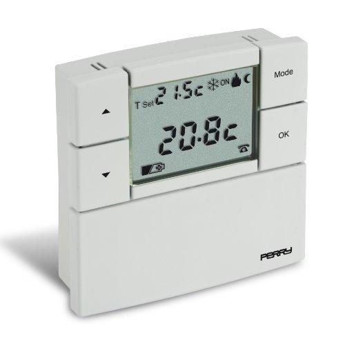 Sesam 1TP TE530B Digitaler Raumtemperaturregler 3 V Serie - Zefiro 80 x 80, weiß