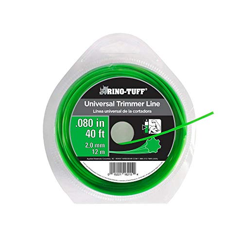 Rino Tuff Lawn Equipment Parts Universal 0.080 in. x 40 ft. Trimmer Line 16215B