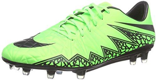 Nike Herren Hypervenom Phatal II FG Fußballschuhe, Grün (Green Strike/Black-Black), 44