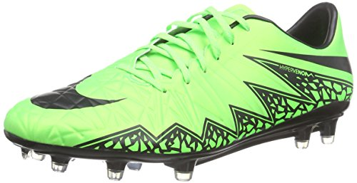 Nike Herren Hypervenom Phatal II FG Fußballschuhe, Grün (Green Strike/Black-Black), 45 EU