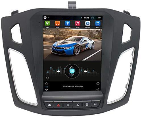 WYFWYT Android 10 9,7' Pantalla táctil Radio del Coche Bluetooth Coche GPS Estéreo Coche Receptor de FM Radio para Ford Focus 2012-2018 Soporte Control del Volante con Enlace de Espejo,WiFi 2g+32g