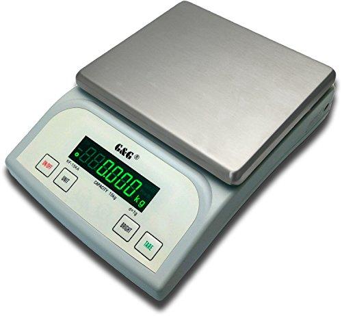G&G KF15KA|B, 15 kg-1g |0,1g - Balance de table de précision pour paquet KF-15KB: Bis 3kg in 0,1g & 15kg in 1g