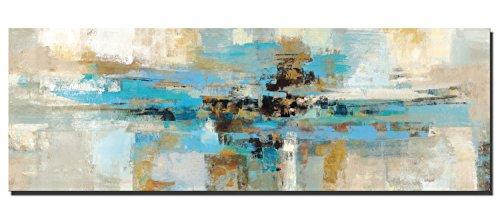 Fajerminart Impresiones sobre Lienzo - Impresiones De La Lona Arte De La Pared - Decoracion Turquesa Arte Abstracto De La Pared De La Lona, De La Turquesa Lienzos Decorativos(Sin Marco)(50x150cm)