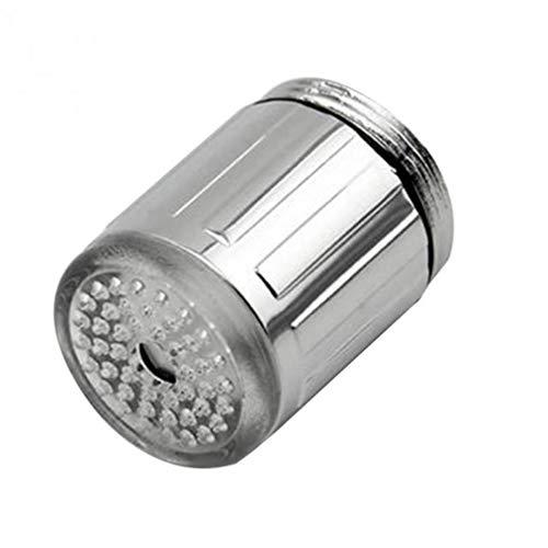 CULER LED Wasser-Hahn-Stream-blau-licht-glühen-Dusche-Hahn-Kopf cocina Drucksensor Küchenzubehör