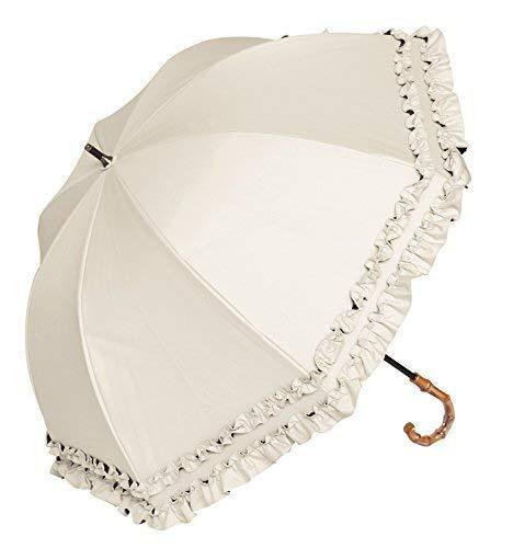 【Rose Blanc】 日傘 晴雨兼用 ダブルフリル ミドルサイズ