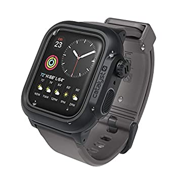 330ft Waterproof Case Designed for Apple Watch Series 6/SE/5/4 44mm 100% Premium Soft Silicone Watch Band Shock Proof Rugged Protective case Designed for Apple Watch by Catalyst - Grey