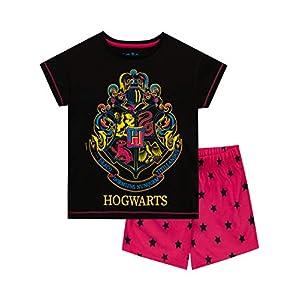 HARRY POTTER Pijamas de Manga Cortapara Niñas Hogwarts 11