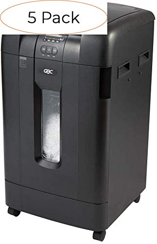 Cheapest Prices! GBC Paper Shredder, Auto Feed, 600 Sheet Capacity, Super Cross-Cut, 10-20 Users, St...