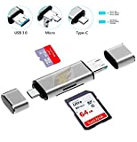 Famous Quality® SD Card Reader, 3-in-1 USB 3.0, USB C, Micro USB Card