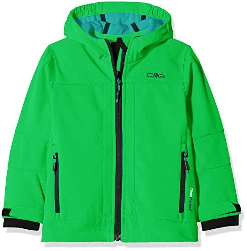 CMP Softshell Jungen Kapuzen Jacke, Green/Emerald, 164, 3A00094
