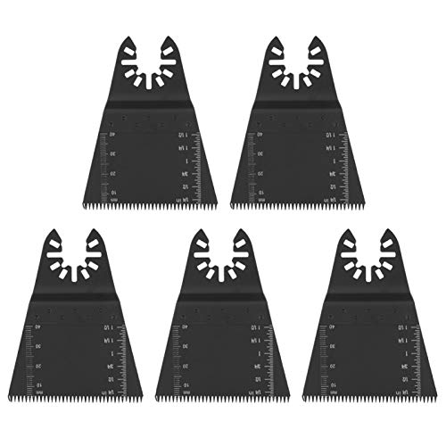 Hoja de sierra, 5 piezas 65 mm de acero al carbono de alto carbono con múltiples herramientas Hoja de sierra para madera Plástico multi herramienta Hoja de múltiples herramientas oscilante