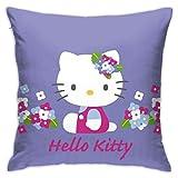 Funda de cojín de color morado con diseño de Hello Kitty