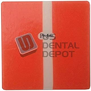 PRO-FORM - TRI-COLOR Mouthguards Orange/White/ Orange 5x5in 12pk 0.160in (4mm) Thick K# 9599121 Also available in round [ thermoplastics termoformados vacuum forming materi 113582 Us Dental Depot