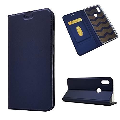 Copmob Funda Xiaomi Redmi S2,Clásico Flip Billetera Cuero PU Funda de Cuero,[1 Ranura][Cierre Magnético][Función de Soporte],Carcasa Caso Case para Xiaomi Redmi S2 - Azul