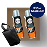 Crema Depilatoria Hombre | Veet for Men | Spray Depilatorio Hombre | Piel Normal | Pack 2x150ml y Neceser de Regalo