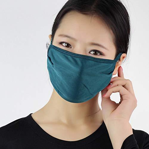 MKDASFD 2 Stück Dünne Seide Sommermaske Sonnenschutz Mulberry Silk Double Knitted Breathable Leicht zu atmungsaktive Cleanable Mask Mask
