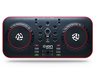 ION Audio DJ Live | USB Computer DJ Controller System including DJ Software