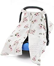 MHJY Carseat Canopy Cover Nursing Cover Breathable Cotton Infant Car Seat Canopy Carseat Cover Nursing Scarf for Boy Girl Baby Shower Gift,A-White