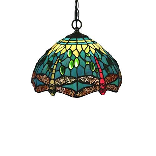 Tiffany Style hanglamp Vitral Groen Rood Libel 1 plafondlamp 12