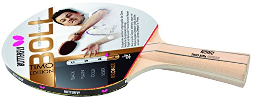 Butterfly Timo Boll Bronze - Pala de ping pong ( 1,5 mm ) , color rojo
