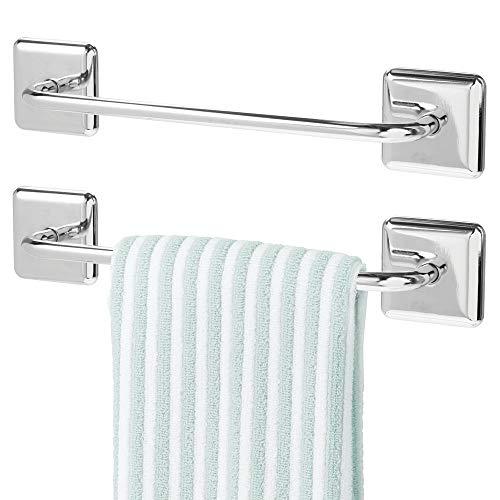 MDesign Juego 2 toalleros baño sin taladro – Toallero