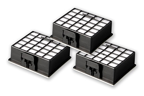 eVendix 3 HEPA H12 Filter Mikrofilter passend für Bosch BS-Serie + Siemens VS-Serie | ähnlich Original BBZ153HFB, 426966, 572234 | Premium Qualität