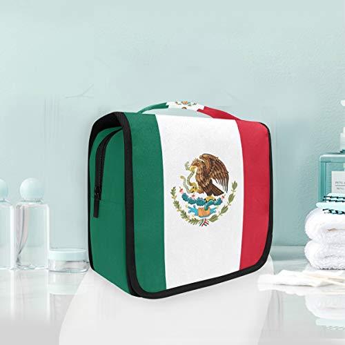 Bolsa de Aseo Colgante Grande con la Bandera de México, Bolsa de...