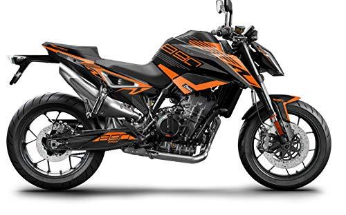 AlphaRider Dekor für KTM Duke 890 | Aufkleber und Grafik Kit (Orange)