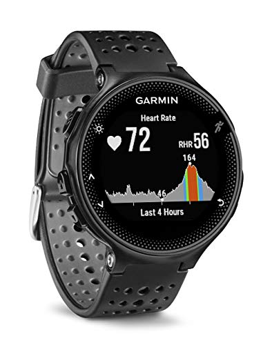 Garmin 010-03717-55 Forerunner 235 GPS Running Watch with Elevate Wrist Heart Rate and Smart Notifications, Black/Grey