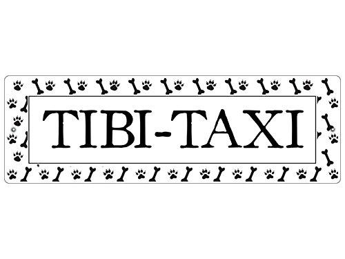 Interluxe KUNSTSTOFFSCHILD Autoschild Saugnäpfe Tibi Taxi *Pfoten* Tibet Terrier Geschenk