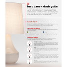 Double Gourd Ceramic Small Lamp Base - Threshold™ : Target