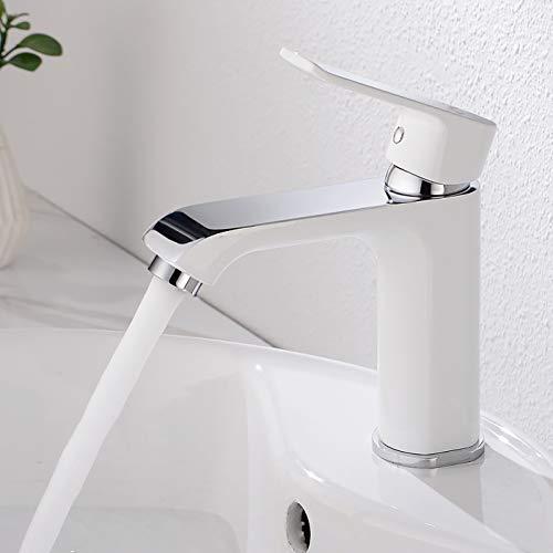 CECIPA Wasserhahn Bad Design mit Wassersparfunktion, Elegant Waschtischarmatur Einhebelmischer Mischbatterie Osmose, Waschbeckenarmatur für Badezimme