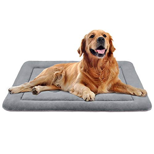 JoicyCo Large Dog Bed Crate Pad Mat 42' Washable Non-Slip Bottom Pet Bed Cat Beds Mattress Kennel Pad