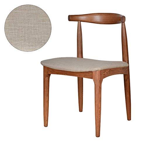 ZHAOJYZ eetkamerstoel, massief hout, stoel, voor op kantoor, lounge, eetkeuken