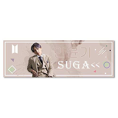 Fuyamp HughFan Bangtan Boys Banner Poster, Map of The Soul Tour Wandrolle Hängende Malerei Kook RM Jimin Jin Suga V J-Hope Jung Kook(H05)
