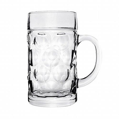 Jarra de Cerveza Cerveza Stein Taza - KitchCater - 1000ml 34oz Cerveza Stein Clásica de Oktoberfest de Cerveza Taza Stein de Pinta del Vaso