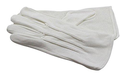 Gants blancs en coton avec grip intérieur main, franc maçon. (10)