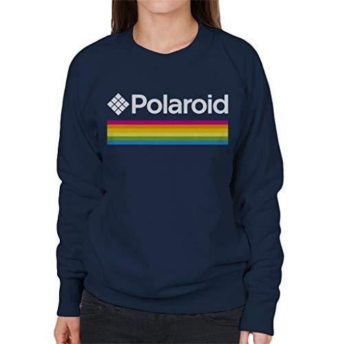 Women's Polaroid Spectrum Logo Sweatshirt, Navy Blue, S to XXL