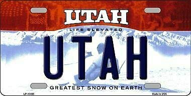 TNND Utah Background Novelty Metal License Plate License plate sign 6x12 inches