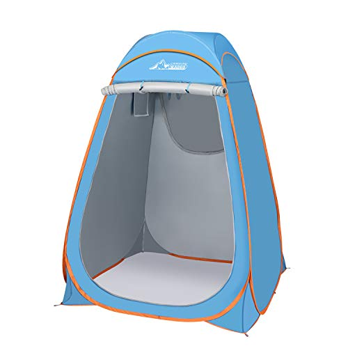 WADEO Pop up Toilettenzelt Umkleidezelt, Camping Duschzelt Outdoor Mobile Toilette Umkleidekabine, Tragbar Camping Dusche Zelt, UV 50+, blau