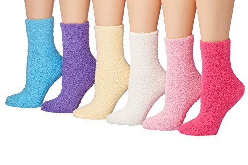Tipi Toe Women's 6-Pairs Solid Color Premium Soft Warm Microfiber Winter Soft...