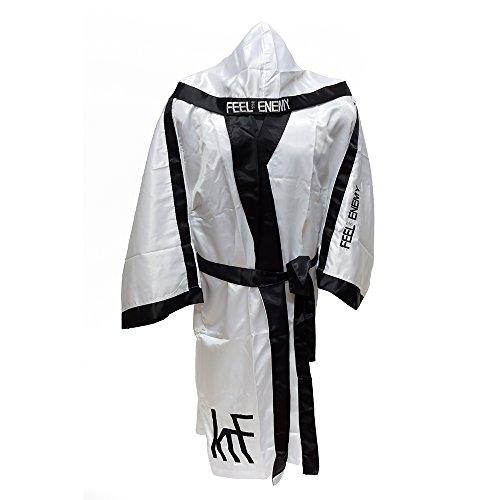 KRF Feel The Enemy 0013307 Bata Competición de Boxeo, Hombre, Blanco, XL