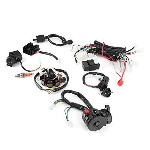 zhuolong Elektrischer Kabelbaum Loom Kit CDI Magneto Stator für 150CC 200CC 250CC 300CC ATV Quad