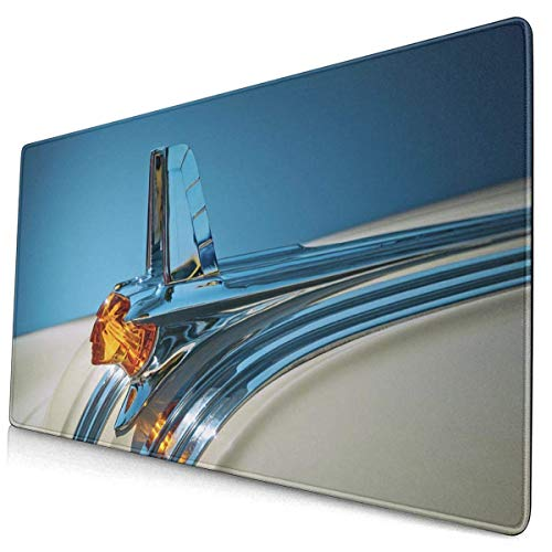 FZDB Gaming Mouse Pad, Non-Slip Rubber Gaming Mouse Pad, Rectangular Mouse Pad 1953-pontiac-hood-ornament