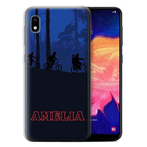 Personalized Custom Phone Case for Samsung Galaxy A10e (2019) Custom Strange Retro Forest Bike Ride Design Transparent Clear Ultra Soft Flexi Silicone Gel/TPU Bumper Cover