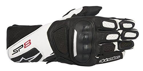 Alpinestars SP-8 v2 Handschuh schwarz/weiß L - Motorradhandschuhe